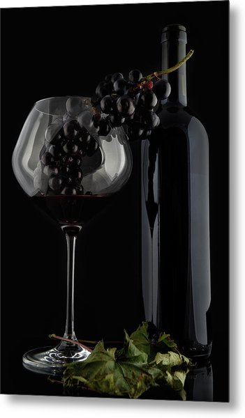 I Love Wine ! V Metal Print by Alessandro Fabiano