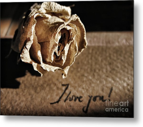 I Love You Letter Metal Print