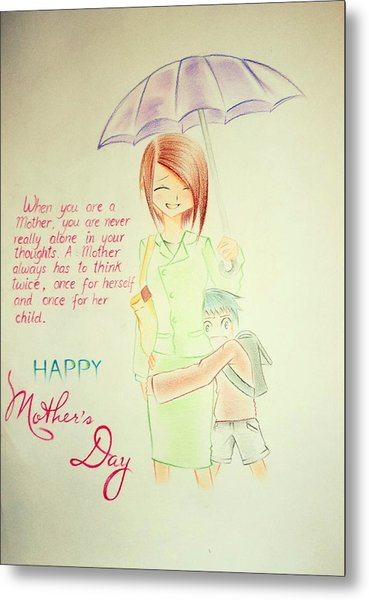 Mother's Day- I Love U Mom Metal Print by Tanmay Singh