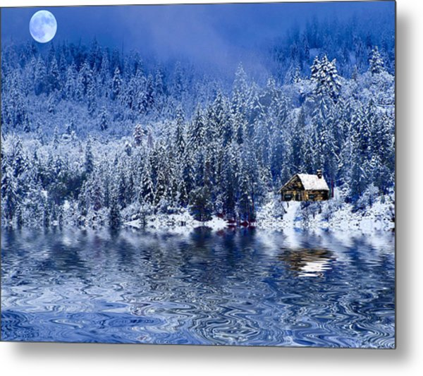 I Loved You In Winter Metal Print