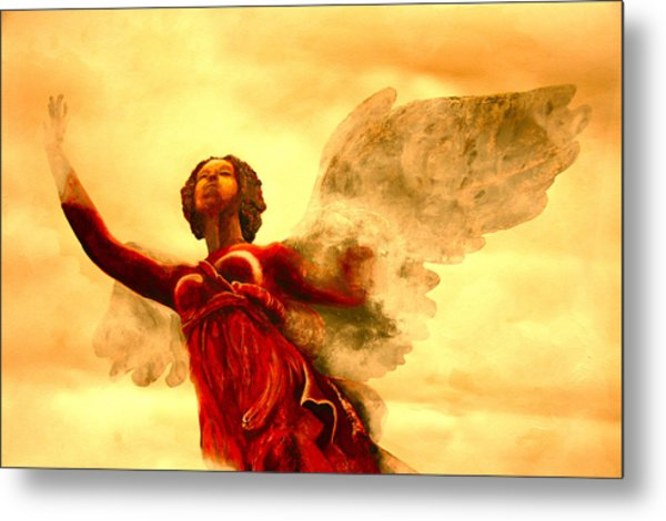 I See My Angel Coming Forth Metal Print