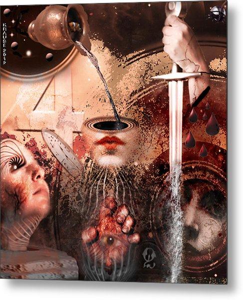 I See Number Four In Beige Metal Print by Peter Krause