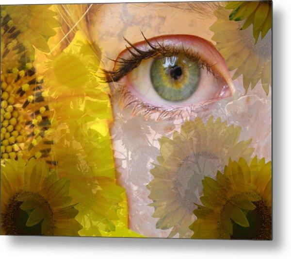 I See Sunflowers Metal Print