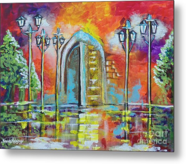 I Stand At The Door And Knock Metal Print