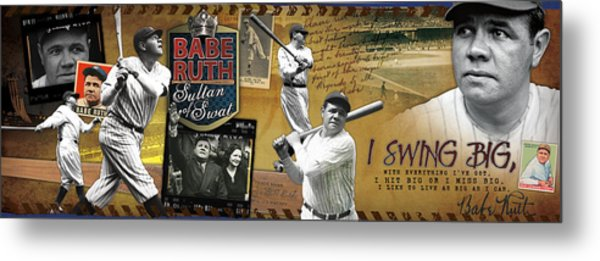 I Swing Big Babe Ruth Metal Print