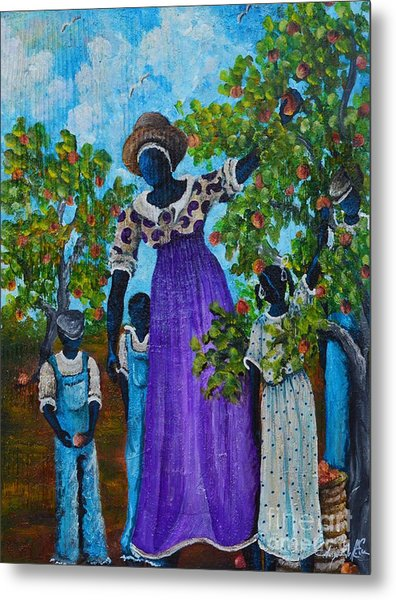 I Want A Peach Metal Print by Sonja Griffin Evans