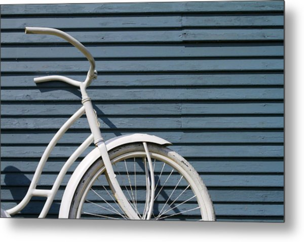 I Want To Ride My Bicycle Metal Print by Chuck De La Rosa