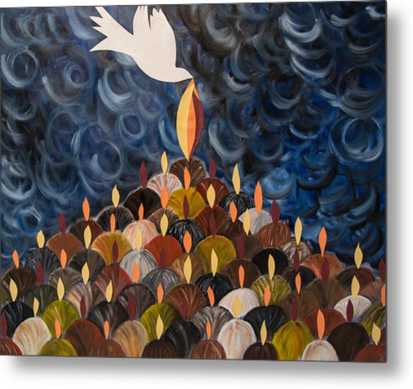 I Will Pour Out My Spirit On All My People Metal Print by Marianne Gonzales