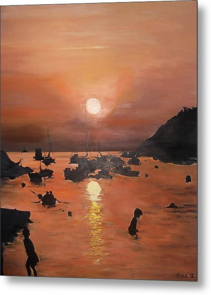 Ibiza Sunset Metal Print