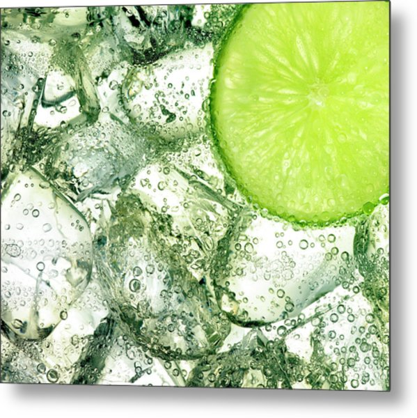 Ice And Lime Metal Print by Anthony Bradshaw