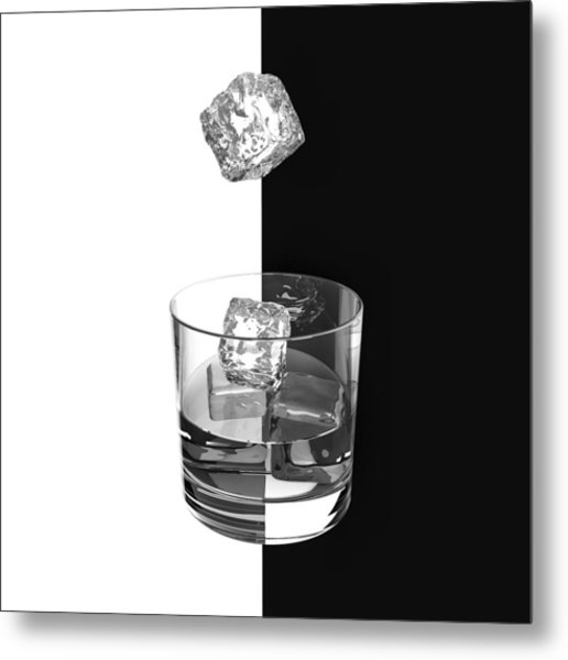Ice And Wine Metal Print