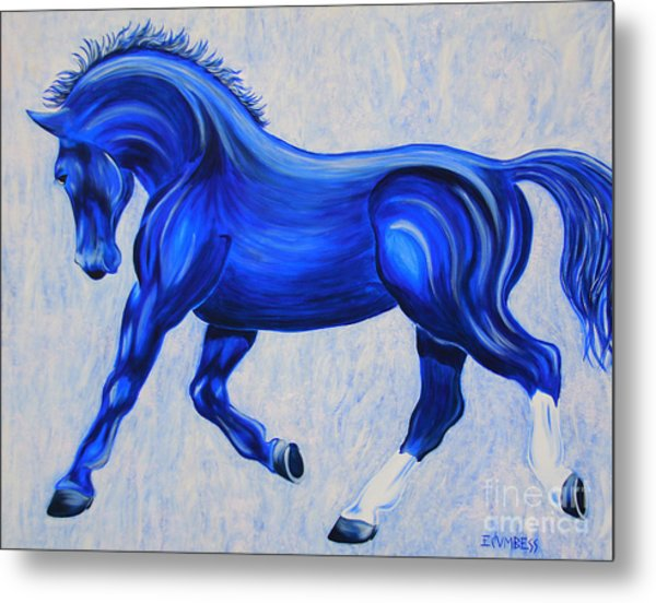 Ice Blue Metal Print
