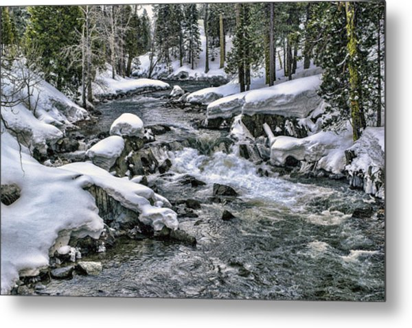 Metal Print featuring the photograph Ice Blue Yuba At Soda Springs by William Havle