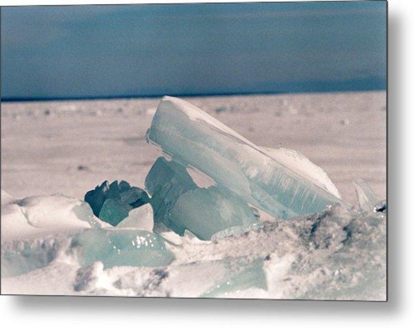 Ice Metal Print by Brady D Hebert