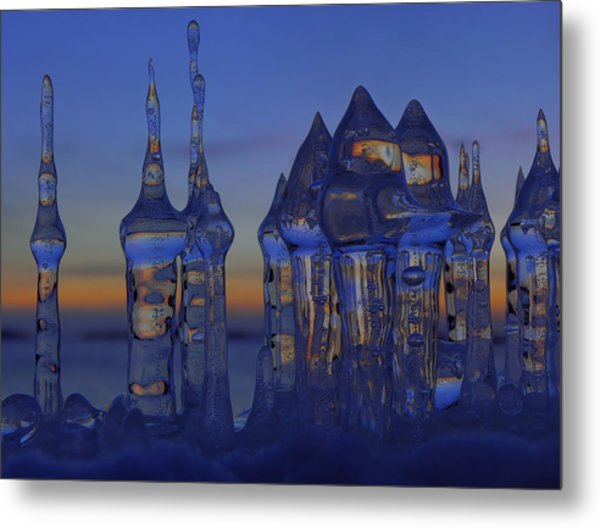 Ice City Metal Print