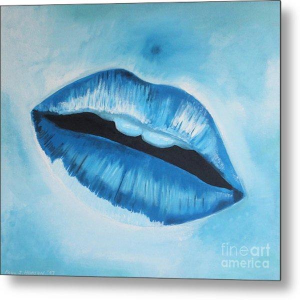 Ice Cold Lips Metal Print