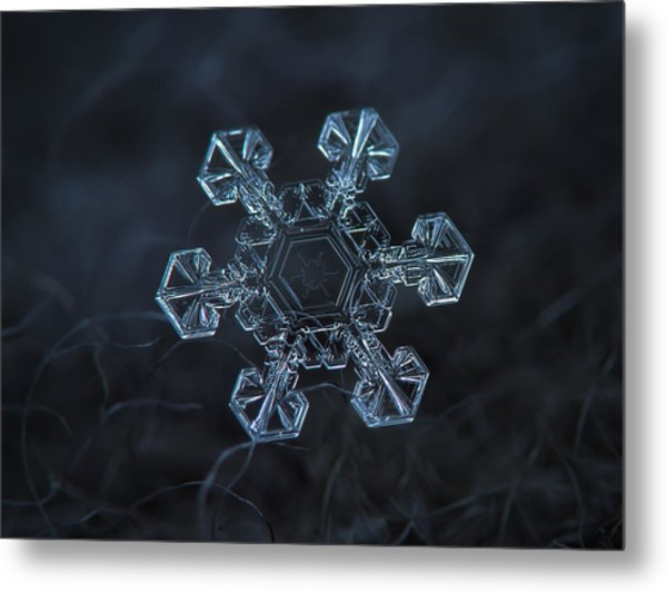 Snowflake Photo - Ice Crown Metal Print