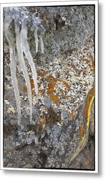 Ice Fall Metal Print