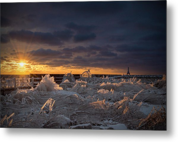 Ice Fields Metal Print