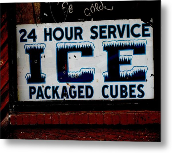 Ice For Sale Metal Print by Steven Parker
