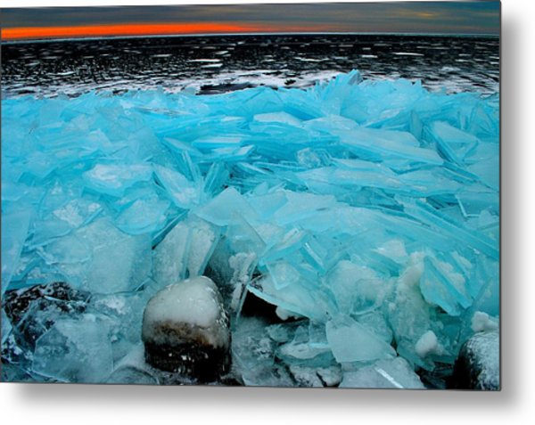 Ice Freeze # 2 - Horsey Bay - Kingston - Canada Metal Print