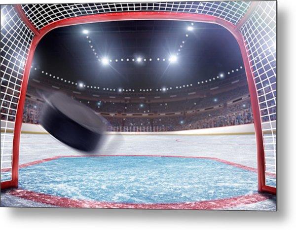 Ice Hockey Goal Metal Print by Dmytro Aksonov