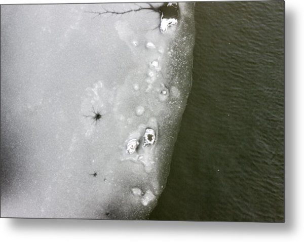 Ice In The River 2 Metal Print