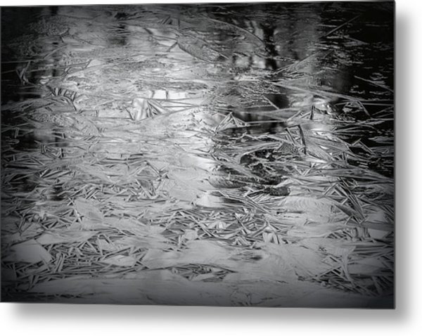 Ice In Triangles Metal Print