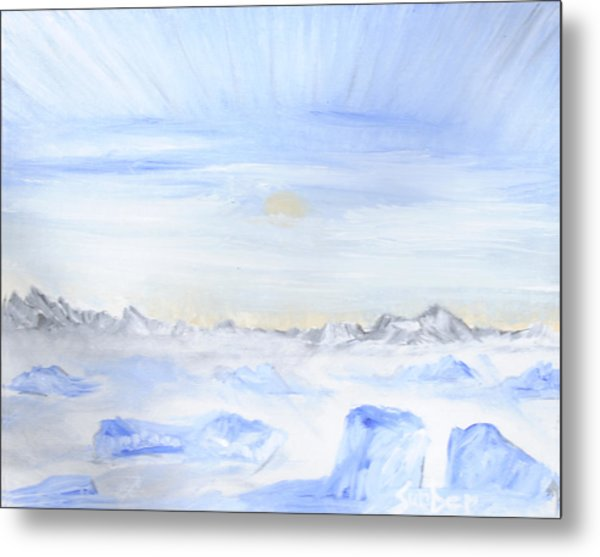 Ice Movement Metal Print