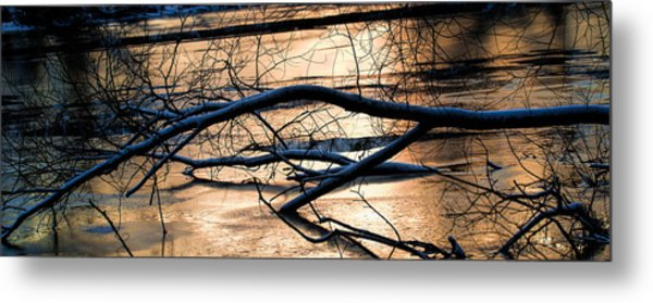 Ice Reflection  Leif Sohlman Metal Print
