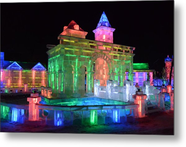 Ice Sculptures Metal Print by Brett Geyer