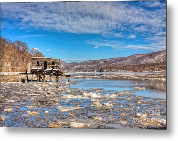 Ice Shack Metal Print