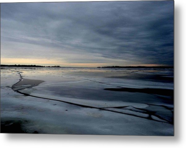 Ice Shatter - Storm Imagined - Canada Metal Print