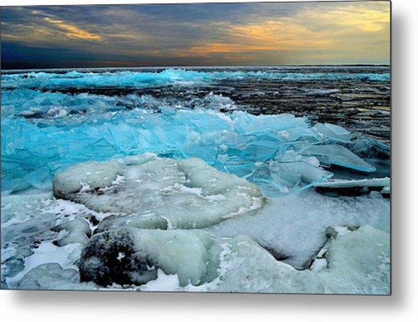 Frozen Beauty In Extreme Metal Print