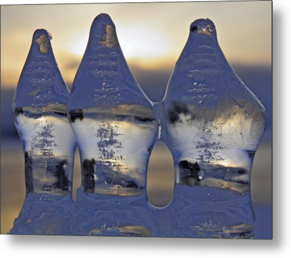 Ice Trio Metal Print