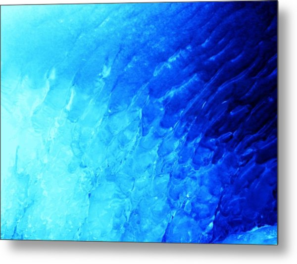Ice Wave Metal Print by Christian Rooney