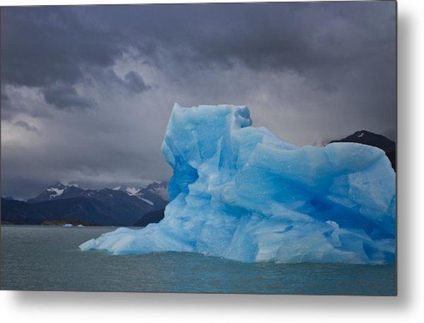 Iceberg Ahead Metal Print