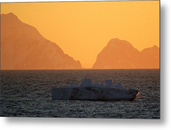 Iceberg Ship Metal Print by DerekTXFactor Creative