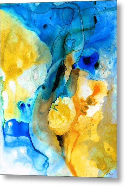 Iced Lemon Drop - Abstract Art By Sharon Cummings Metal Print