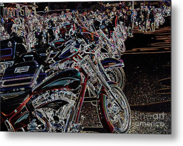 Iced Out Bikes Metal Print
