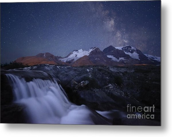 Icefields At Night Metal Print