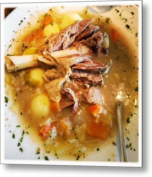 Iceland Food - Traditional Icelandic Lamb Soup Metal Print