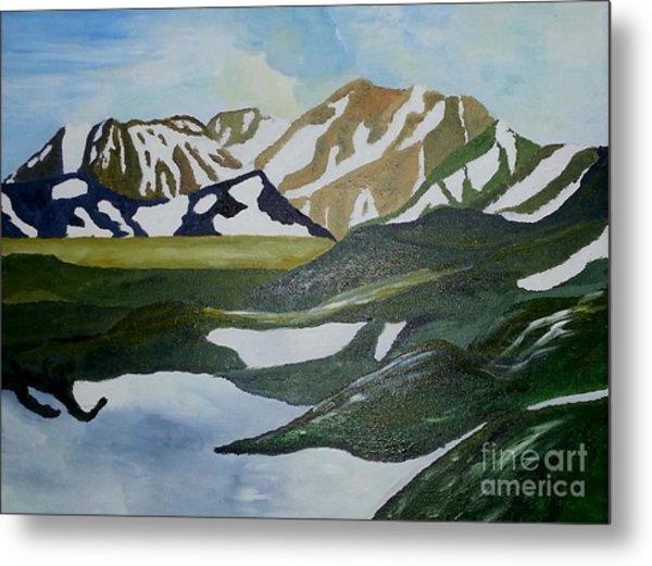 Iceland Mountains Metal Print