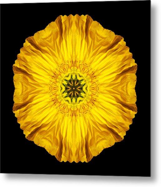 Iceland Poppy Flower Mandala Metal Print