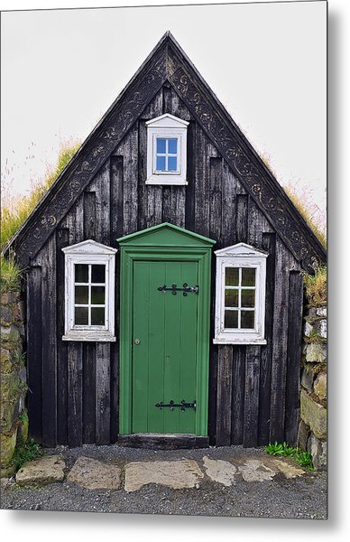 Icelandic Old House Metal Print