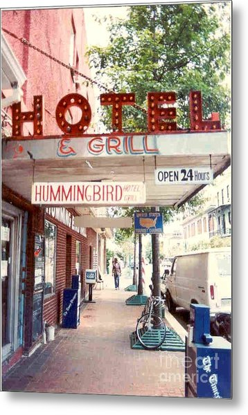 Iconic Landmark Humming Bird Hotel And Grill In New Orelans Louisiana Metal Print