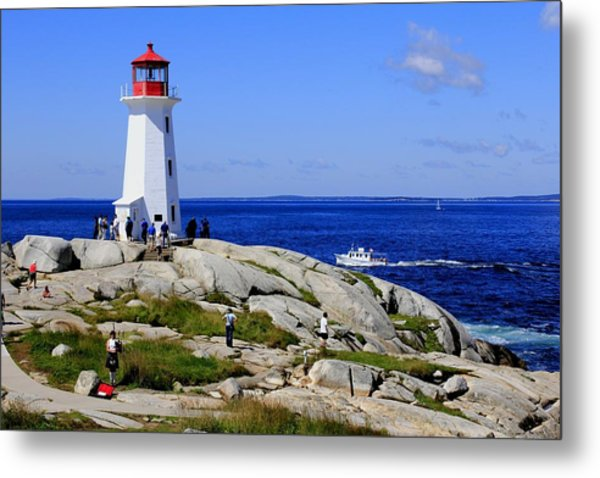 Iconic Peggy's Cove Lighthouse Nova Scotia Canada Metal Print
