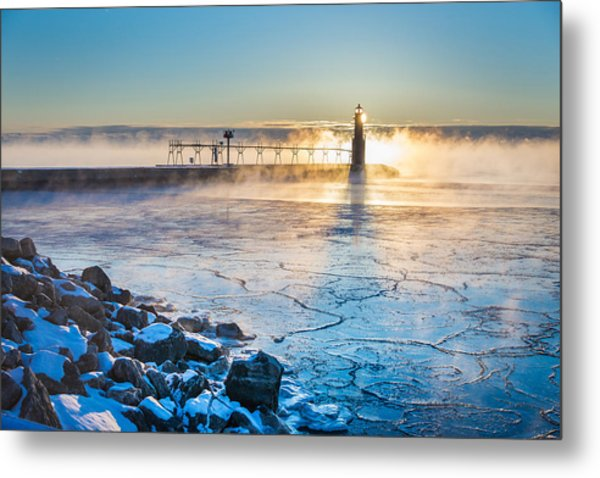 Icy Morning Mist Metal Print