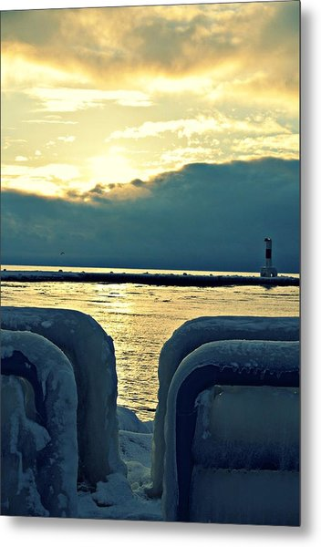 Icy Path Metal Print by Dawdy Imagery