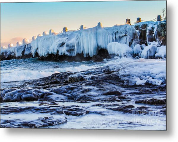 Icy Shores Metal Print